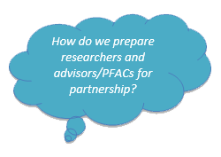 How do we prepare researchers and advisors/PFACs for partnership?