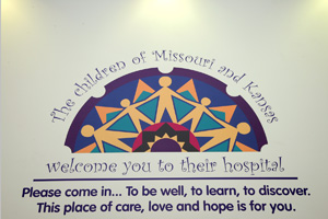 Welcome sign at CHildren's Mercy