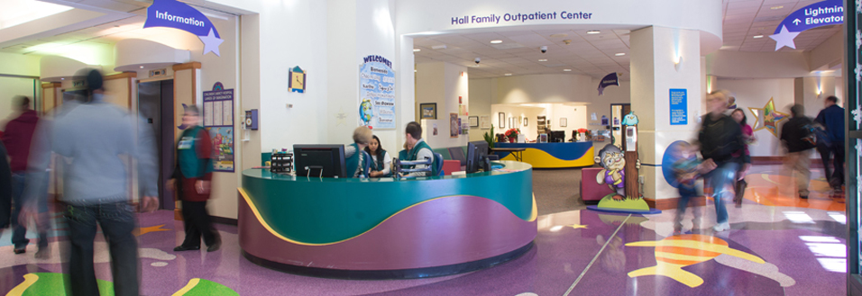 Children's Mercy Guest Services desk'