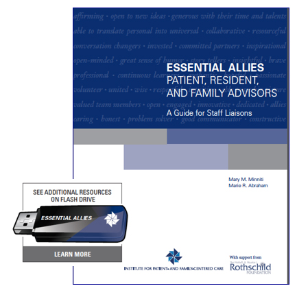 Essential Allies—Patient, Resident, and Family Advisors: A Guide for Staff Liaisons cover