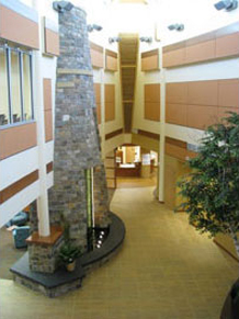 Perham Health Hospital entrance and lobby with healing environment