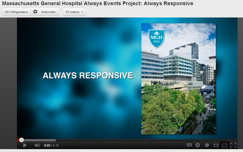 Massachusetts General Hospital Always Events Project: Always Responsive
